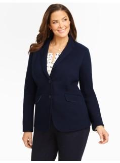 Pique-Knit Jacket
