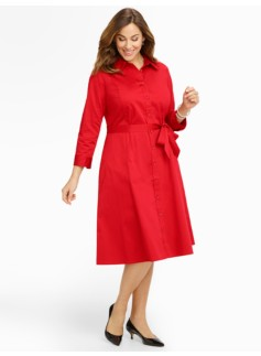 Sateen Shirtdress