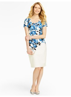 Cascading Floral Sheath