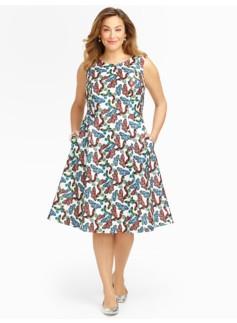 Butterfly-Print Dress