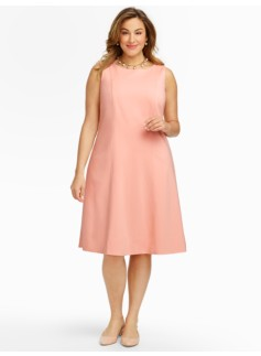 Ponte Fit-And-Flare Dress - Lined