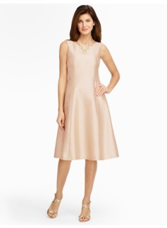 Doupioni Fit-And-Flare Dress
