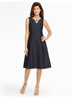 Doupioni Fit-And-Flare Dress