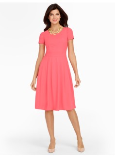 Crepe Fit-And-Flare Dress