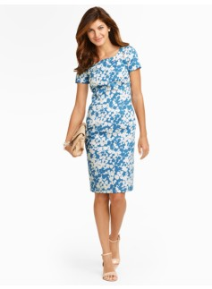 Wild Flowers Swirl Jacquard Sheath
