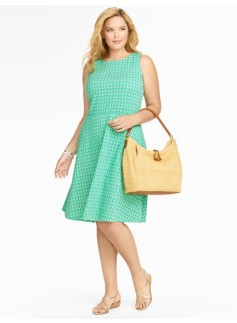 Edie Sunglasses Fit-And-Flare Knit Dress
