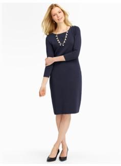 Shoulder-Button Sweater Dress