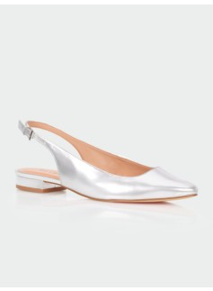 Edison Metallic Leather Slingbacks