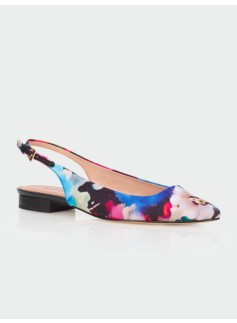 Edison Watercolor Floral Slingbacks