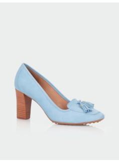 Parker Suede High-Heel Loafers