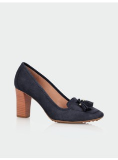 Parker Suede High-Heel Loafers