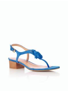 Peyton Suede Tassel Thong Sandals