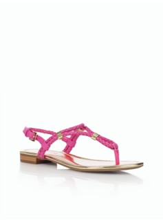 Lalli Braided-Leather Thong Sandals