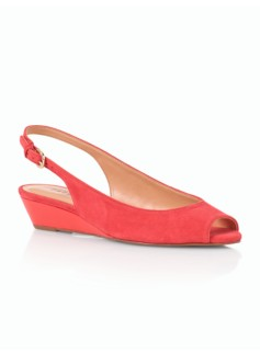 Tilley Suede Slingback Wedges