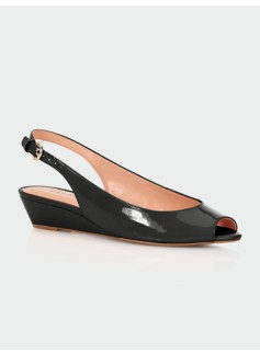 Tilley Patent Leather Slingback Wedges