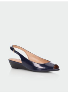 Tilley Leather Slingback Wedges