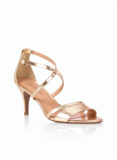 Lucy Metallic Leather Strappy Sandals