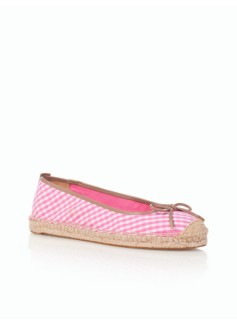 Ivy Gingham Espadrille Flats