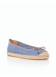 Ivy Blue Chambray Espadrille Flats
