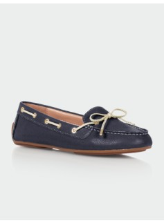Easton Pebbled Leather Driving Moccasins