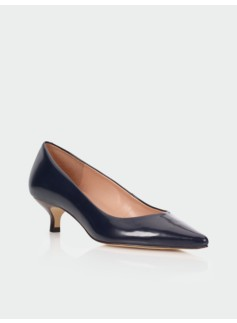 Pippa Leather Kitten-Heel Pumps