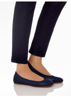 Rory Soft Nappa Leather Elastic Ballet Flats