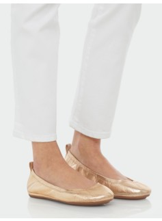 Roxie Metallic Leather Scrunchy Ballet Flats