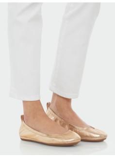 Roxie Metallic Leather Scrunchy Ballet Flats