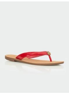 Mari Patent Finished Thong Sandal