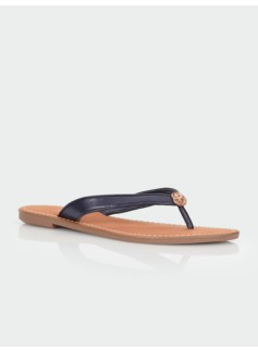 Mari Faux-Leather Thong Sandal