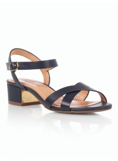Peggy Gold-Heel Sandals