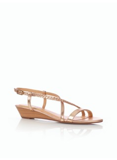 Cece Metallic Braided Wedge Sandals