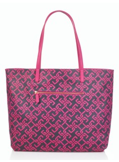 Reversible Coated Canvas Tote