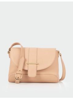 Flap & Tab Leather Shoulder Bag