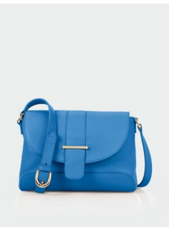 Flap & Tab Leather Shoulder Bag