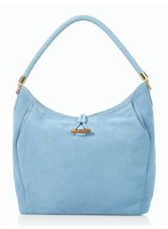 Softly Pleated Suede Hobo