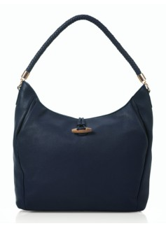 Softly Pleated Pebbled Leather Hobo