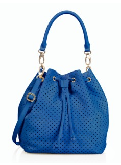 Perforated Drawstring Bucket Bag
