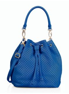 Perforated Drawstring Bucket Bag