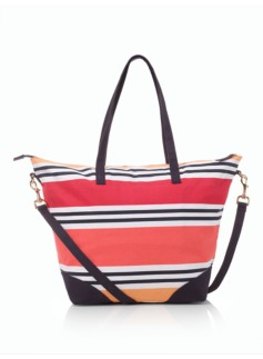 Multi-Stripes Beach Bag