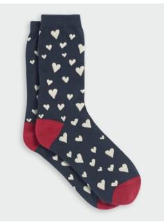 Tossed Hearts Trouser Socks