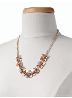 Hammered-Petal Cluster Necklace