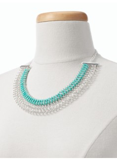 Woven Seed-Bead Collar Necklace