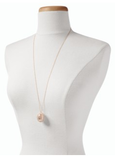 Long Pav� Egg Necklace