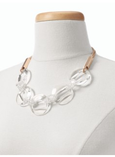 Clear Ring Necklace