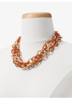 Tortoiseshell & Chainlink Necklace