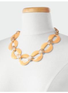 Ring-Link Collar Necklace
