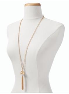 Pearl Bead Tassel Necklace