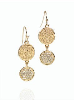 Pav� Bead-Drop Earrings