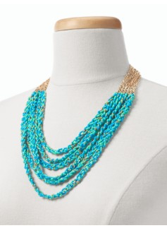 Seedbead Multi-Strand Necklace